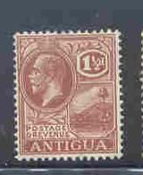 Antigua Sc 47 1929 1 1/2d fawn G V & St Johns Harbour stamp mint