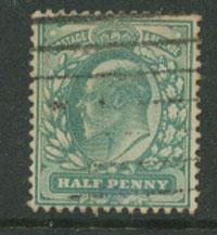 GB EDW VII SG 270   FU Pale Bluish  Green