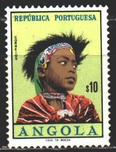 Angola. 1961. 425 from the series. Traditional clothing and hairstyle. MLH.