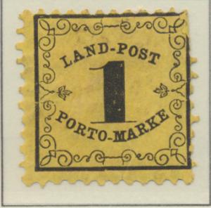 Baden (German State) Stamp Scott #LJ1, Unused - Free U.S. Shipping, Free Worl...