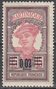 Martinique #109 MNH F-VF   (V3311)