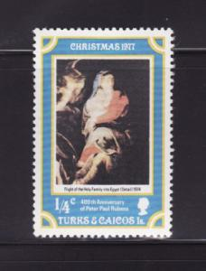 Turks and Caicos Islands 331 MNH Christmas, Art, Paintings