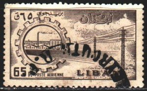 Lebanon. 1958. 635 from the series. Electric line, energy. USED.