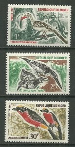 1967 Niger 184-6  Birds MNH set of 3 SCV$4.90