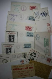 Detroit MI Stamps Shows Convention & Exhibit Set of 20 Philatelic Expo Cachets