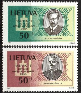 Lithuania 1997 National Day Persons Signatories set of 2 MNH