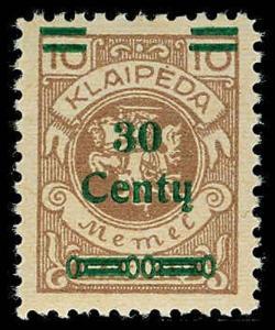 MEMEL N101  Mint (ID # 72458)