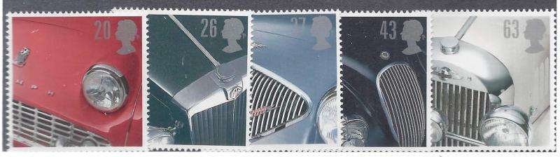 Great Britain 1703 07 Classic British Sports Cars Set of 5