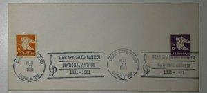 Jamesville Stamp Club Star Spangle Banner 1981 Philatelic Expo Cachet Cover