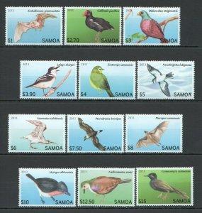 NW0060 2013 SAMOA FAUNA BIRDS !!! #1105-16 MICHEL 47 EURO 1SET MNH