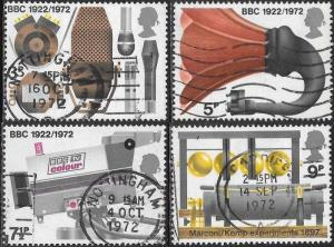Great Britain 676-679 Used - Daily Broadcasting in U.K.