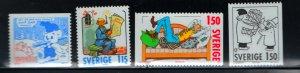 SWEDEN 1335-1338 (4) Set, MNH, 1980 Christmas (comic strip characters)
