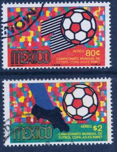 MEXICO C350-C351, World Soccer Championship. Used (1170)