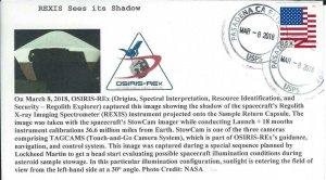 2018 OSIRIS-Rex REXIS Spectrometer Sees Its Shadow Pasadena 8 March