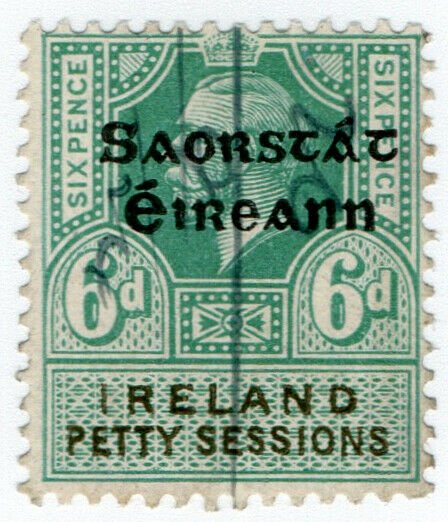 (I.B) George V Revenue : Ireland Petty Sessions 6d (Free State OP)