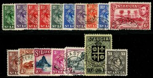 ST. LUCIA SG128-141, COMPLETE SET, FINE USED. Cat £35.