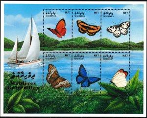 1999 Maldive Islands 3237-3242KL Butterflies 9,00 €