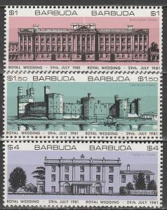Barbuda #493-5 Imperf Pairs (V2621)