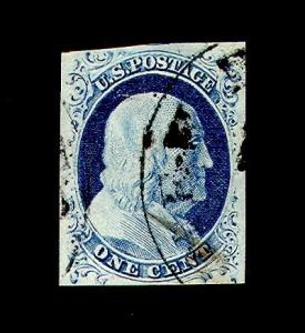 momen: US Stamps #9 Used PSE Graded 85