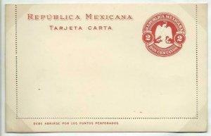 MEXICO 2c lettercard 1899 unused...........................................58748