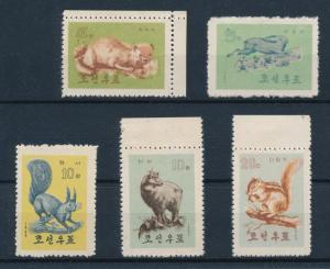 [58546] Korea 1962 Wild life Chipmunk Rabbit Never Hinged No gum as issued