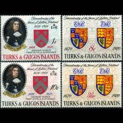 TURKS & CAICOS 1970 - Scott# 213-6 Gen.G.Monck Set of 4 NH