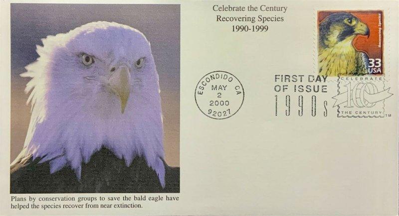 Mystic 3191 Celebrate the Century 1990 Endangered Species Bald Eagle Extinction