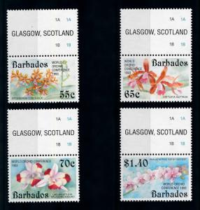 [79811] Barbados 1993 Flora Flowers Blumen Orchids with OVP and Labels MNH