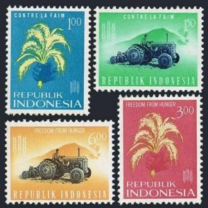 Indonesia 585-588 blocks/4,MLH/MNH.Michel 388-391. FAO Freedom from Hunger,1963.