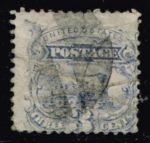 US STAMP #  114 3c 1869 Pictorial Issue Used stamp crease