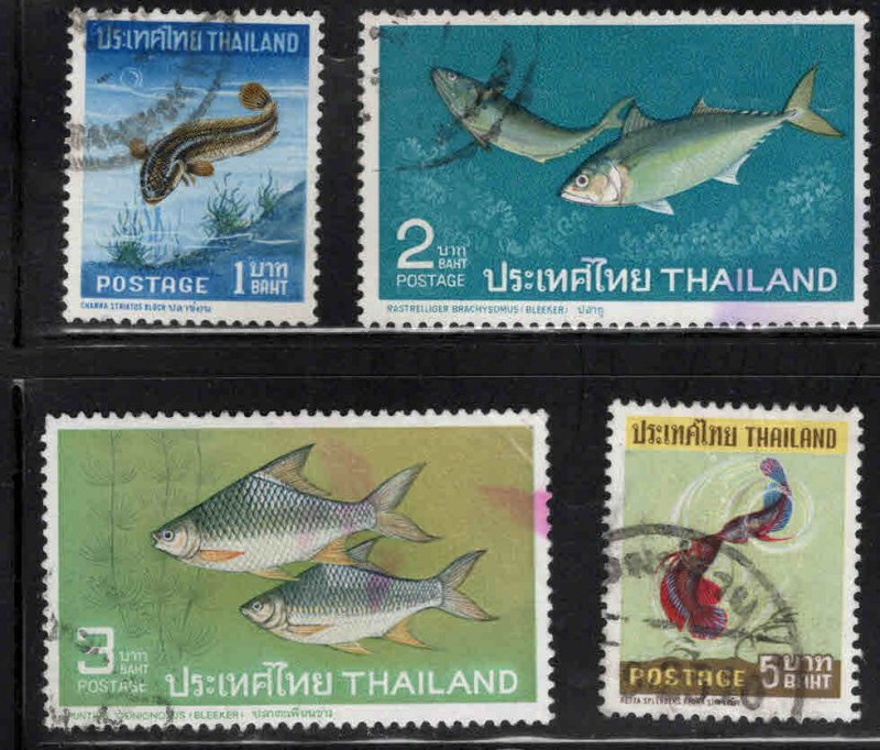 THAILAND Scott 464-467 Used Fish set 1967