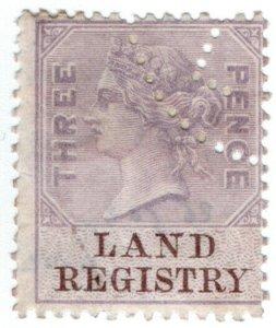(I.B) QV Revenue : Land Registry 3d (1879)