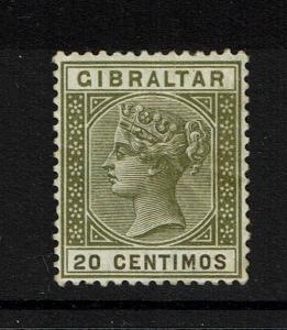 Gibraltar SG# 24, Mint Hinged, Hinge Remnant, Very Minor Creasing - Lot 052117