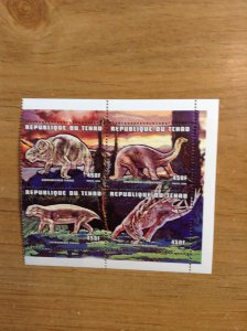 Chad  ( Dinosaurs ) # 788D  (4/6)  MNH