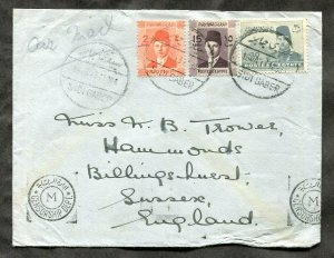 d248 - EGYPT Sidi Gaber CENSORED Cover to England
