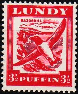 Great Britain(Lundy). Date? 3 1/2p  Unmounted Mint