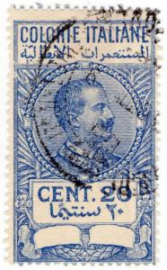 (I.B) Italy (Libya) Revenue : Duty Stamp 20c (unlisted)