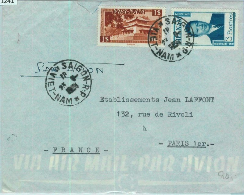 91241 -  VIETNAM - Postal History -   COVER to FRANCE - 1954