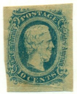 CONFEDERATE STATES #11, Mint Hinged, Scott $18.00