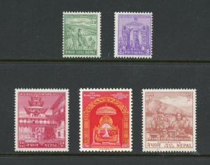 NEPAL  SCOTT#84/88   MINT NEVER HINGED  --SCOTT $121.00