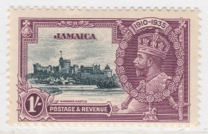 British Colony Jamaica Silver Jubilee 1935 1s MH* Stamp A22P19F8959