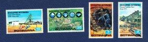 BOTSWANA - # 58-61 - VFMNH - mining, diamonds, copper - 1970