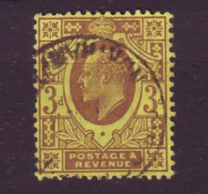 J19689 Jlstamps 1902-11 great britain used #132 king