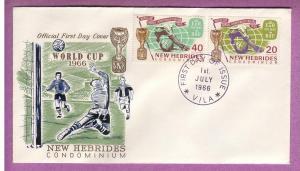 New Hebrides Fr.+GB FDCs - World Cup 1966