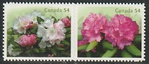 2009 Canada - Sc 2320i - MNH VF - 1 pair - Rhododendrons