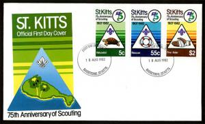 St. Kitts 1982 75th Anniversary of World Scouting FDC