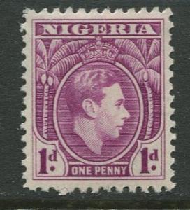 Nigeria -Scott 54 - KGVI Definitive -1938 - MVLH - Single 1p Stamp