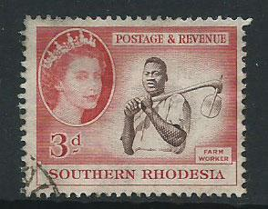 Southern Rhodesia SG 81  Used gum remnant toning