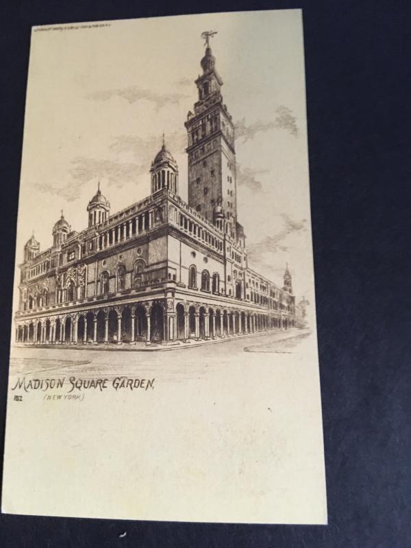 USA 1898 Date at Top of Message Side Private Mailing Card of Madison Square Gdns