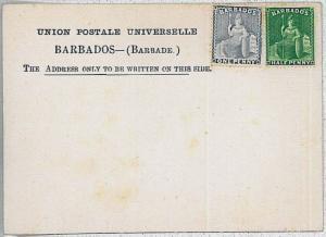 BARBADOS  -  POSTAL STATIONERY: FORMULAR CARD - Higgings & Gage #3